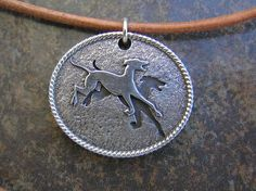 Birmingham Greyhound Protection UK NO initials sterling silver pendant, $50.00. Beautiful and 100% of the proceeds go to rescue.