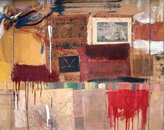 Robert Rauschenberg (American, 1925-2008), Rebus (detail), 1955. Oil, synthetic polymer paint, pencil, crayon, pastel,  cut-and-pasted print...