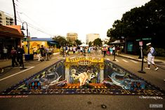 street painting gallery - Street Painting and Anamorphic Art by Chalk Artist Cuboliquido 3d Street Painting, 3d Street Art, Chalk Festival, Art Festival, Tivoli Park, Chalk Artist, Steam Punk, Venice Florida, Anamorphic