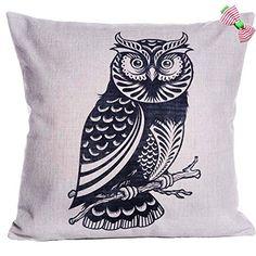 Caryko Home Decor Cotton Linen Square Pillow Case Cushion Cover Cute Owls (Owl-Black&White) Caryko http://www.amazon.com/dp/B00XYSTT84/ref=cm_sw_r_pi_dp_dGwxvb04T1XYA