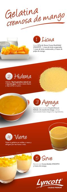 Try this with pumpkin for Thanksgiving Jello Recipes, Mexican Food Recipes, Sweet Recipes, Dessert Recipes, My Favorite Food, Favorite Recipes, Delicious Desserts, Yummy Food, Gelatine