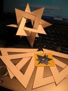 Estructuras poliédricas. Piezas entrelazadas.