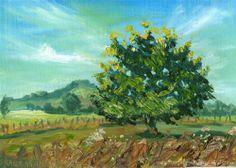 Tree Painting - Original Fine Art for Sale - © by Ekaterina Chernova
