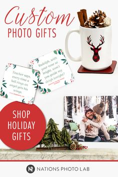 Turn your photos into personalized gifts and relive every perfectly imperfect moment together. Great gifts for your loved ones, coworkers, neighbors, and clients. (They'll think you planned all year! Crafty Christmas Gifts, Christmas Cup, Christmas Signs, All Things Christmas, Holiday Gifts, Christmas Crafts, Party Gifts, Diy Gifts, Unique Gifts