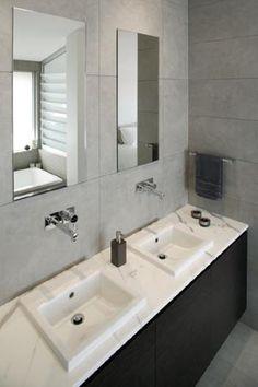 Modern Grey Bathroom Ensuite | Gasparre Tiles