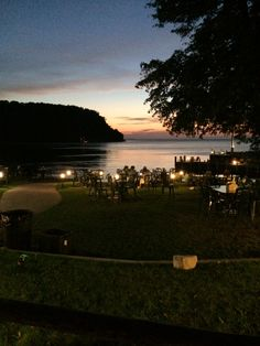 Fred and Fuzzies, Sister Bay WI  Outdoor dining and one of the best locations for beautiful sunsets in Door County