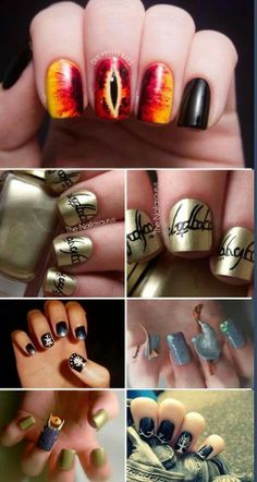 awesome lotr nails!