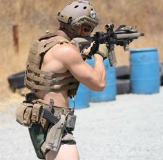 Sabre Rattler — special-operations: Operator as fuck . Hot Army Men, Sexy Military Men, Military Gear, Military Army, Hot Men Bodies, Hot Cops, Just Beautiful Men, Combat Gear, Hunks Men