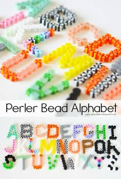 Make Your Own Perler Bead Alphabet ~ loads of fun for word work with kids!