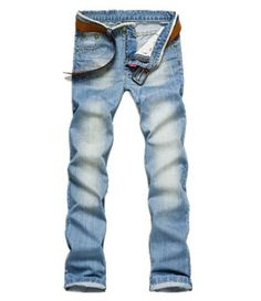 Amoin New Classic Men Stylish Designed Straight Slim Fit Trousers Casual Jean Pants - For Sale Check more at http://shipperscentral.com/wp/product/amoin-new-classic-men-stylish-designed-straight-slim-fit-trousers-casual-jean-pants-for-sale/