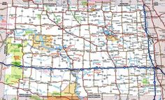 Road map of WyomingFree maps of US TravelUS7WyoMntnaIdaho