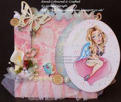 Fairytale Daydream: by Sandie Gough #Copics #Slinky Tart #Digi stamp #Butterfly card #Birthday card #Girly card #Handmade card #Pin up cards #Smexy cards