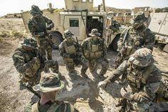 1st Marine Raider Battalion (MARSOC) conducting ground training at camp Pendleton