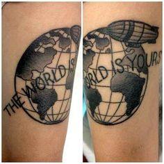 46 Perfectly Lovely Travel Tattoos - BuzzFeed Mobile the world is your oyster