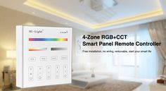Milight B4 4-Zone RGBW RGB RGBW+CCT Smart Panel Remote Controller for led strip lights lamp bulb led tape ribbon Free shipping