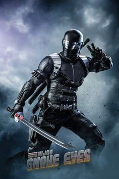 Superhero Characters, Comic Book Characters, Comic Character, Comic Books, Comic Art, Ninja Armor, Snake Eyes Gi Joe, Ninja Action Figures, Iron Man Wallpaper