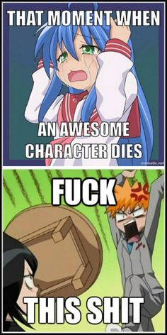 Its so true! i love that episode of bleach, because that is pretty much what Ichigo shouts at Rukia.