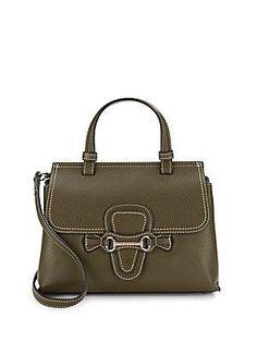 Valentino by Mario Valentino Diane Dol Leather Handbag - Army Green -