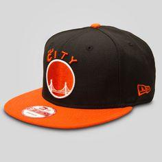Authentic New Era 9FIFTY Snapback Ball Cap in Black   Orange - 100% Wool - 3f304119fca