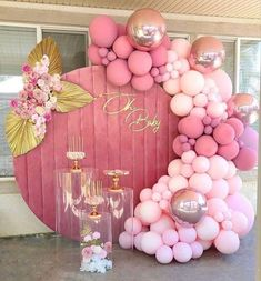 Birthday Balloon Decorations, Girl Baby Shower Decorations, Birthday Balloons, Baby Shower Themes, Deco Baby Shower, Baby Shower Balloons, Baby Shower Parties, Baby Birthday, Birthday Parties