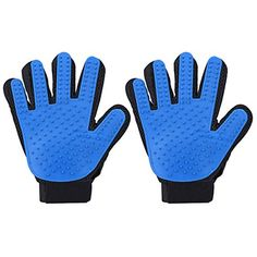 Cymas Pet Grooming Glove Brush Deshedding Tool for Removing Pet Shedding Hair Pet Massage and Bathing Brush or Comb for Dogs Cats Horses 2 Pack * Visit the image link more details.