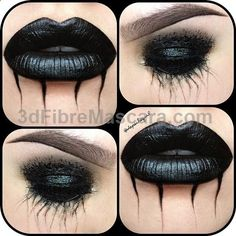 #ShareIG Black Tears❣❣❣ My 'Dave Gahan/the way I look at a Depeche Mode concert' inspired look. Lips are also inspired by @♥♥OliviaRose♥♥ and the tears are inspired by my gurrrl @mua_penelope ❣ Products; MAC Black Lip Mix & Clear Lipglass. NYX Black Mascara, Gel Liner, Hot Black Eyeshadow, & Liquid Liner. Just a little something to brighten up your Saturday... hahaha, just kidding❣ More