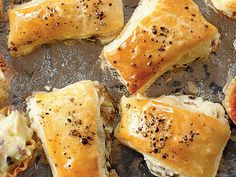 "Mushroom Puffs | Mushroom Puffs are a quick and easy appetizer that your friends and family will love. One online reviewer says, ""Very tasty and easy to make!!"""