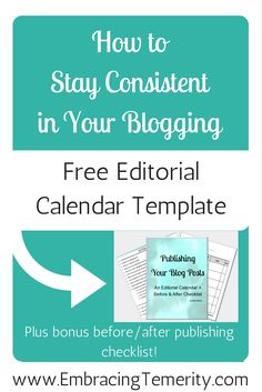Free editorial calendar for bloggers, great for the new year! Planner for bloggers, help with blogging