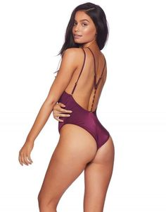 f6aa0259b6 Beach Bunny Ireland Plum Color One Piece Ring Accent Swimsuit Swimwear  (Other Colors Available)
