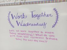 My kids love when we have a special message to start the day! Thanks Miss fo… My kids love when we have a special message to start the day! Thanks Miss for the great idea! Leadership, Morning Board, Morning Activities, Daily Writing Prompts, Responsive Classroom, Classroom Community, Teaching Tools, Teaching Ideas, Teaching Resources