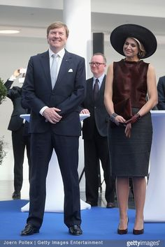 3/19/2015 Queen Maxima of The Netherlands and King Willem-Alexander of The Netherlands at the Draeger Medical GmbH state visit on March 19, 2015 in Luebeck, Germany.