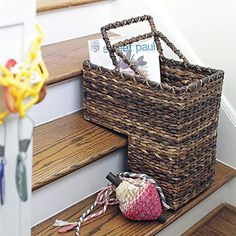 A Step Beyond Basket. Love these baskets! Great for putting everything into that needs to go upstairs
