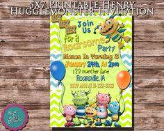 5 X 7 Printable Henry Hugglemonster Birthday Invitation - Henry Hugglemonster Invite - Monster Birthday Invite - Disney Invitation #henryhugglemonsterparty #henryhugglemonster #kidspartyideas