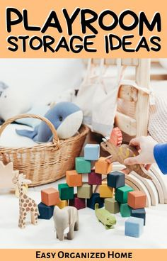 Ensure your home playroom doesn't grow out of control with mess with these genius storage hacks! #storagehacks #storagesolutions #playroom #organization# organize Kids Storage Shelves, Kids Playroom Storage, Playroom Shelves, Toy Room Organization, Childrens Toy Storage, Kids Playroom Furniture, Toy Storage Baskets, Kid Toy Storage, Storage Hacks
