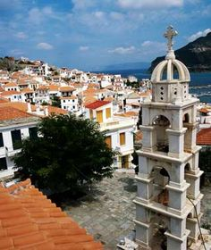 Skopelos (Greece), T+L Tip: After a dinner of grilled lamb at garden-side Perivoli (Skopelos Town; 30-24240/23758; dinner for two $60), walk to open-air Mercurius Bar & Café (Skopelos Town; 30-24240/24593; drinks for two $12), or the hillside Ouzeri Anatoli (Skopelos Town; 30-24240/22851; drinks for two $12), for live rebetika music.