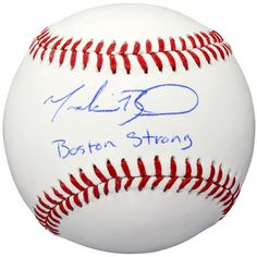 Mookie Betts Boston Red Sox Fanatics Authentic Autographed Baseball with Boston Strong Inscription
