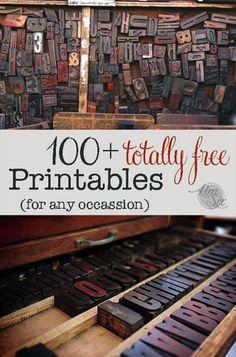 100 Szabad Nyomtatható Projektötletek!  via TheKimSixFix.com