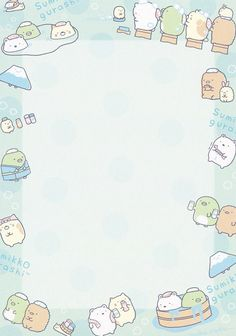 "San-X Sumikko Gurashi ""Onsen"" Memo Kawaii Wallpaper, Cute Wallpaper Backgrounds, Memo Template, Memo Notepad, Note Doodles, Pen Pal Letters, Cute Notes, Kawaii Stationery, Cute Cartoon Wallpapers"