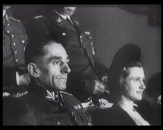 """Karl Hermann Frank with his wife Karola. From documentary film """"Semena nenávisti"""" (Czechoslovakia, 1979)."""