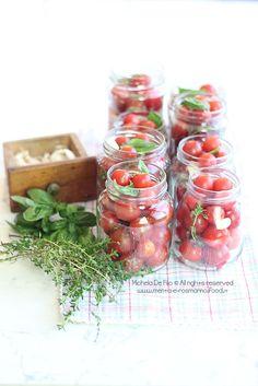 Pomodorini in barattolo | Menta e Rosmarino