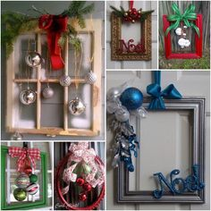Projekty do wypróbowania Weihnachtsdekoration mit Fotorahmen Making Friends With Farmers Article Bod Christmas Picture Frames, Christmas Frames, Simple Christmas, Christmas Projects, Holiday Crafts, Christmas Wreaths, Holiday Decor, Christmas Time, Picture Frame Wreath