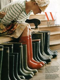 How many pairs of wellies do I have? I could never have enough.