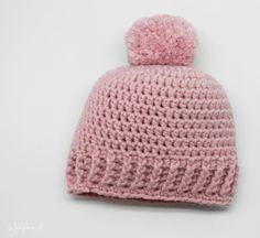 Häkelanleitung Baby Mütze - New Ideas Baby Knitting Patterns, Crochet Baby Hats Free Pattern, Crochet Baby Beanie, Baby Patterns, Crochet Patterns, Crochet Gratis, Diy Crochet, Häkelanleitung Baby, Diy Baby