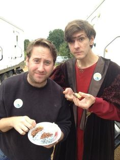 Jim Howick and Mat Baynton off Horrible Histories