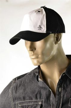 35eb888e462 Mens Hat Penguin Munsingwear Gray Linen Blend Logo Baseball Cap Hats Sz  L xl