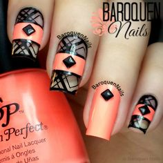 cool nail - 70 Cool Nail Designs <3 !but I can't stand the ring finer being a different style from the rest!