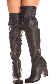 Fortune Dynamic FAUX LEATHER SIDE ZIPPER OVER THE KNEE CASUAL BOOTS ** Want to know more, click on the image.