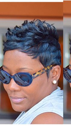 """Discover additional information on """"black hairstyles for men"""". Look into our website. Short Blue Hair, Long Bob Blonde, Short Sassy Hair, Short Hair Cuts, Short Pixie, Pixie Cuts, Blonde Bob Hairstyles, Cute Hairstyles For Short Hair, Curly Hair Styles"""