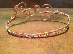 Copper Swirl Wire Wrapped Anklet. $24.00, via Etsy.