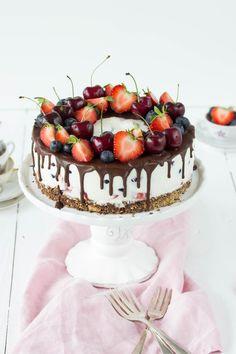 Berry Tart, Food Design, No Bake Cake, Sweet Treats, Strawberry, Healthy Eating, Birthday Cake, Sweets, Baking
